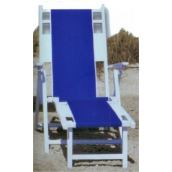 White Wood/Canvas Beach Chair