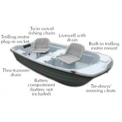 "9' 4"" Basstender Fishing Boat"